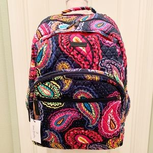 Vera Bradley large essential Backpack paisley nwt
